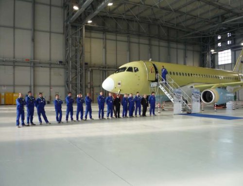 Superjet ceremony: roll-in first SSJ100 Venice
